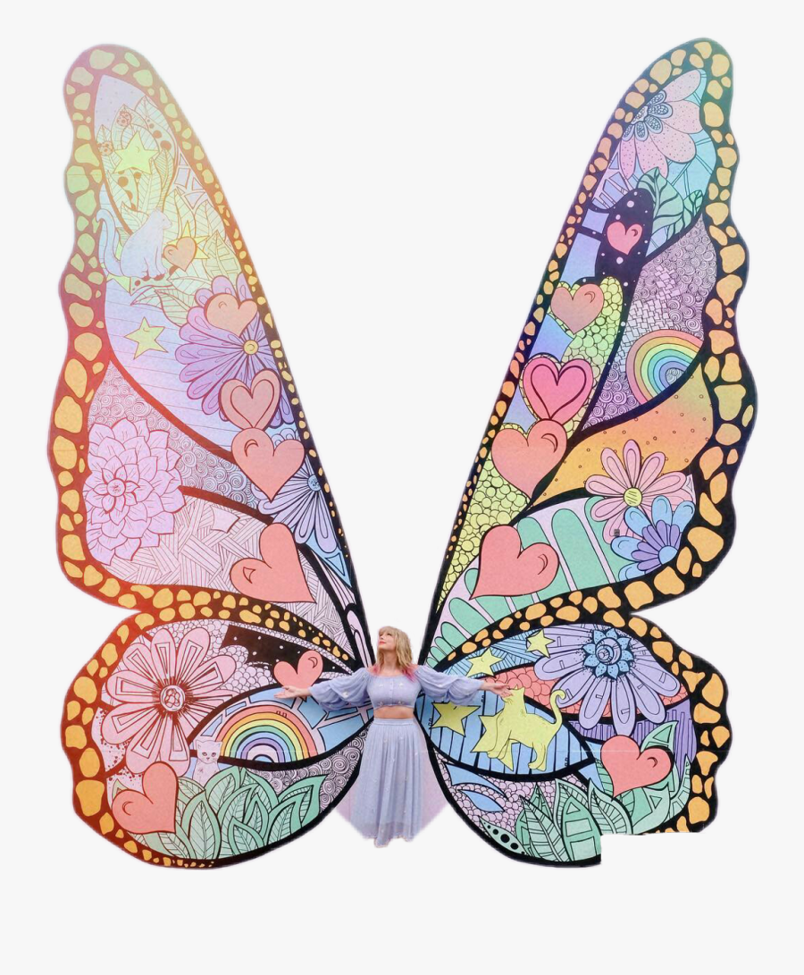 #taylorswift #taylor #swift #me #me #butterfly #wings - Taylor Swift Mural Nashville, Transparent Clipart