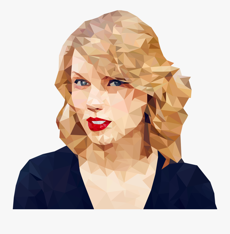 Clip Art Taylor Swift Low Poly - Taylor Swift Low Poly, Transparent Clipart