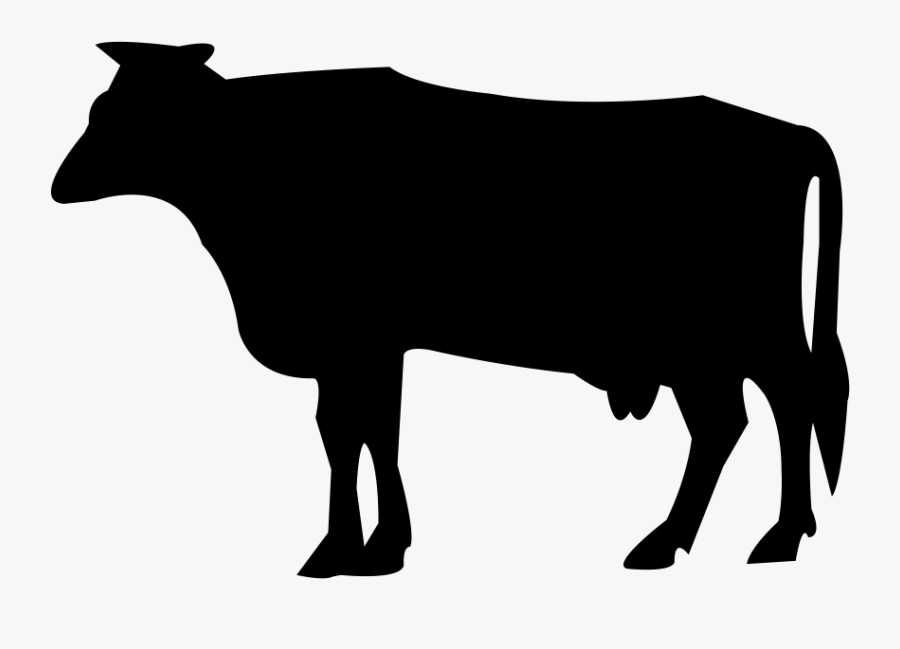 Silhouette Dairy Cattle Farm - Animal Silhouette, Transparent Clipart