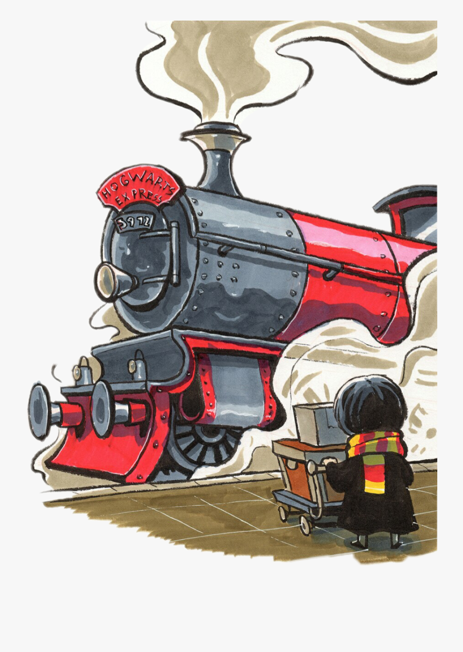 #harrypotter #hogwarts #hogwartsexpress #griffindor - Harry Potter Train Draw, Transparent Clipart
