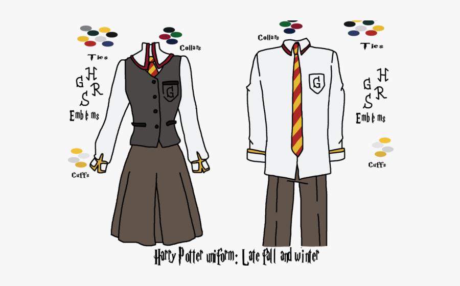 Transparent Hogwarts Clipart - Harry Potter Clothes Drawing, Transparent Clipart