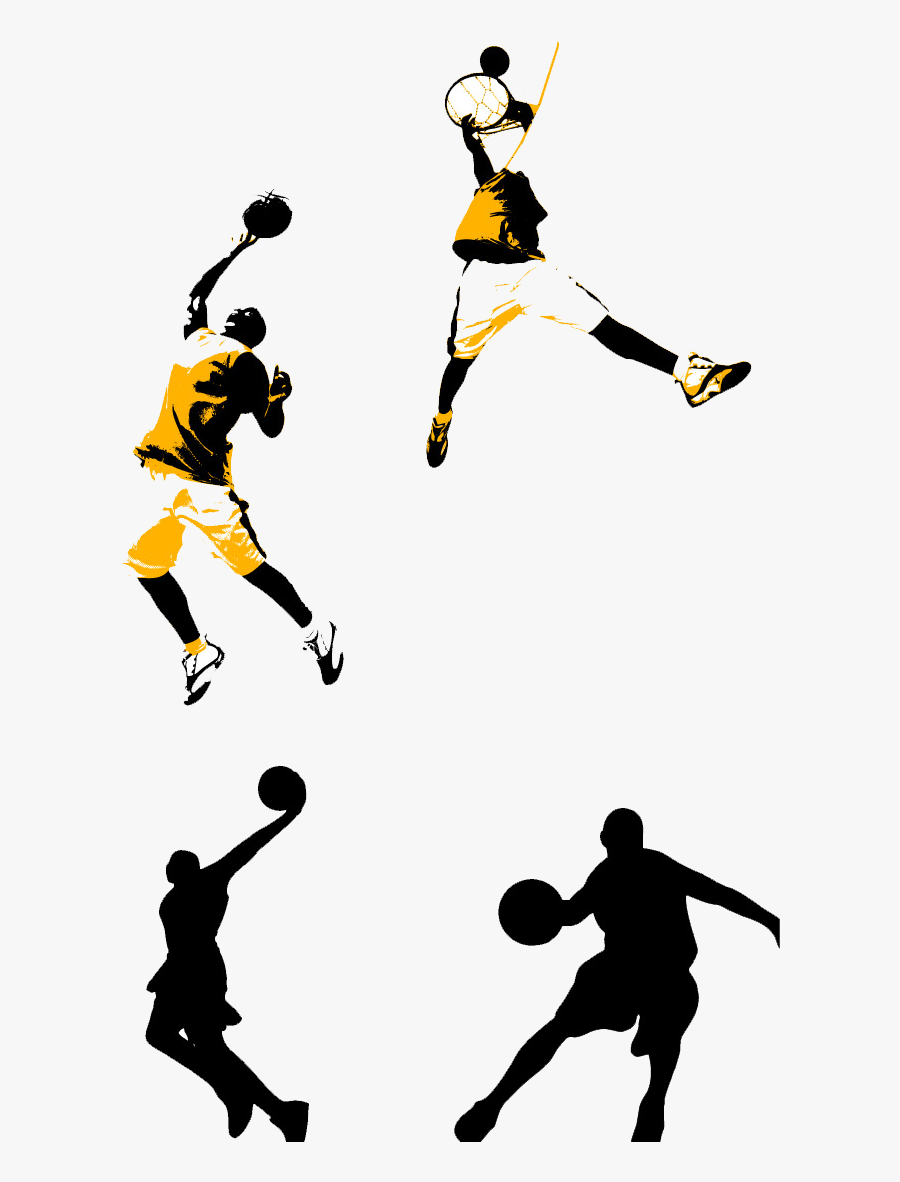 Basketball Court Slam Dunk Clip Art - Basketball Clipart Dunking, Transparent Clipart