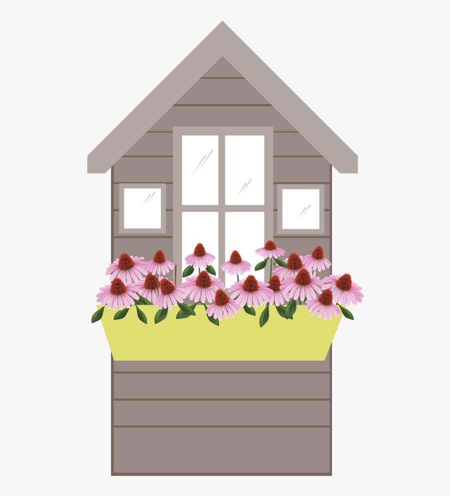 Potted Plants Clipart Planter Box - Window Flower Box Clipart, Transparent Clipart