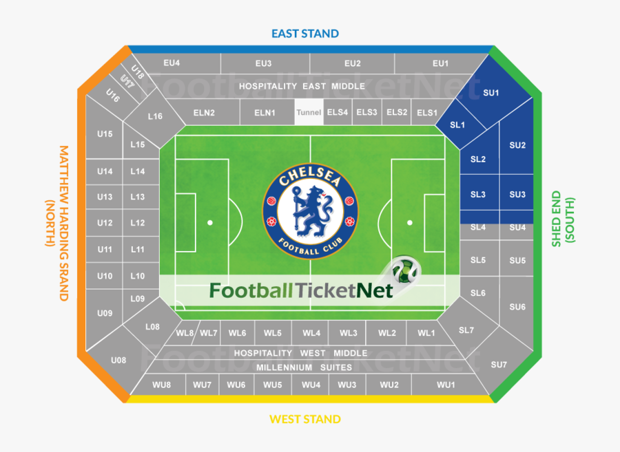 Arena Ball Old Chelsea Fc London Stadium - Stamford Bridge West Stand Seating Plan, Transparent Clipart