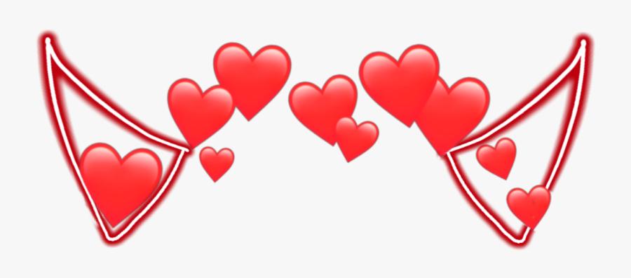 #devil #horn #horns #devilhorns #heart #red #heart - Transparent Heart Crown Png, Transparent Clipart