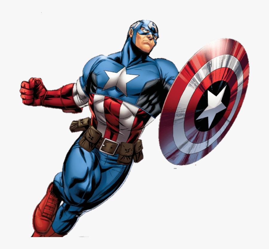 Captain Marvel Clipart Transparent - Transparent Background Captain America Clipart, Transparent Clipart