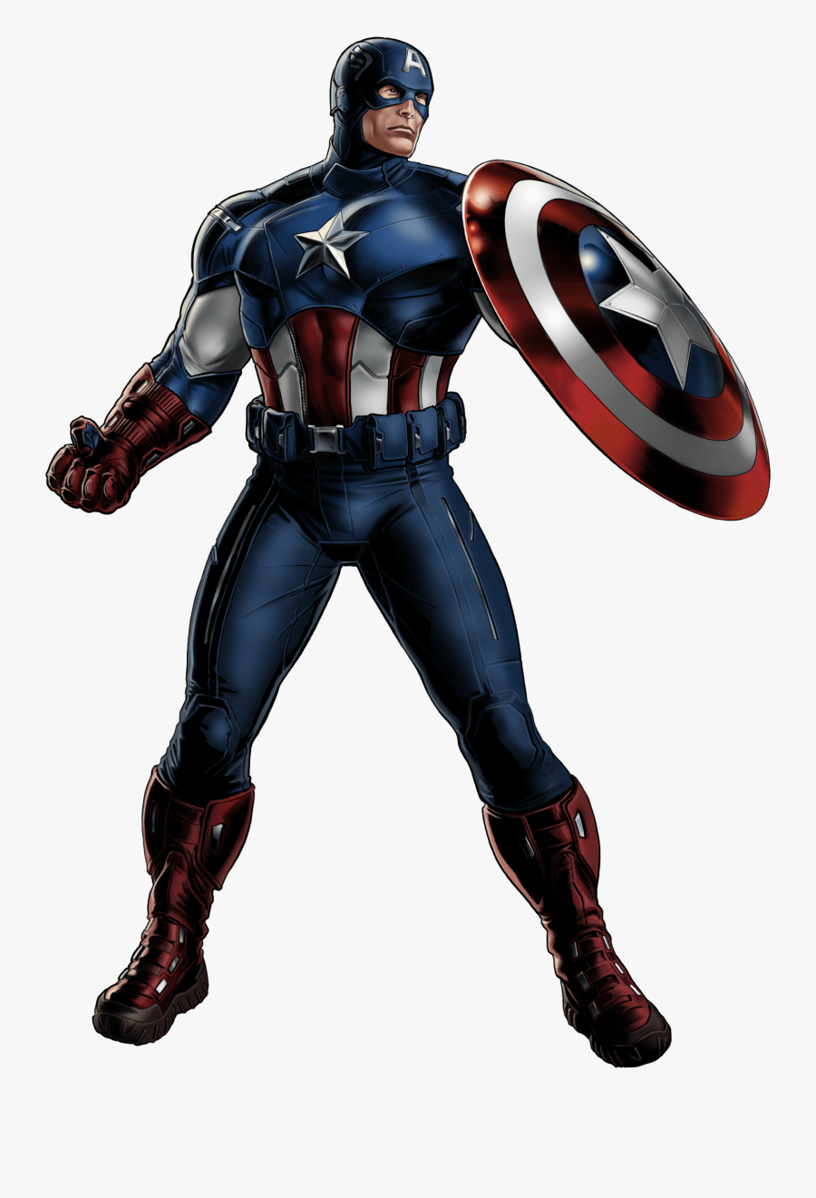 Captain America Looking Right - Avengers Captain America Png, Transparent Clipart