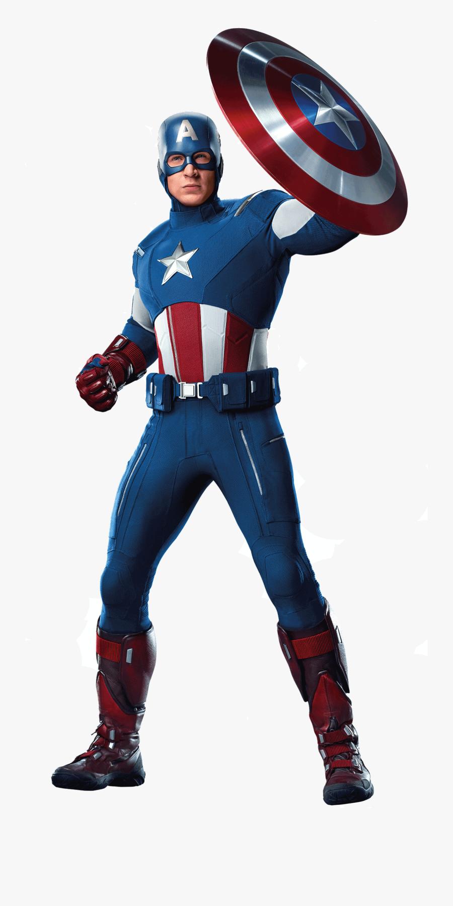 Captain America Team Png - Captain America Avengers 2012, Transparent Clipart
