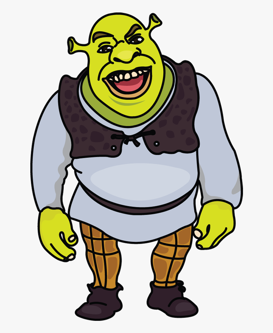 How To Draw Sshrek, Step By Step Http - Shrek Easy Drawing, Transparent Clipart