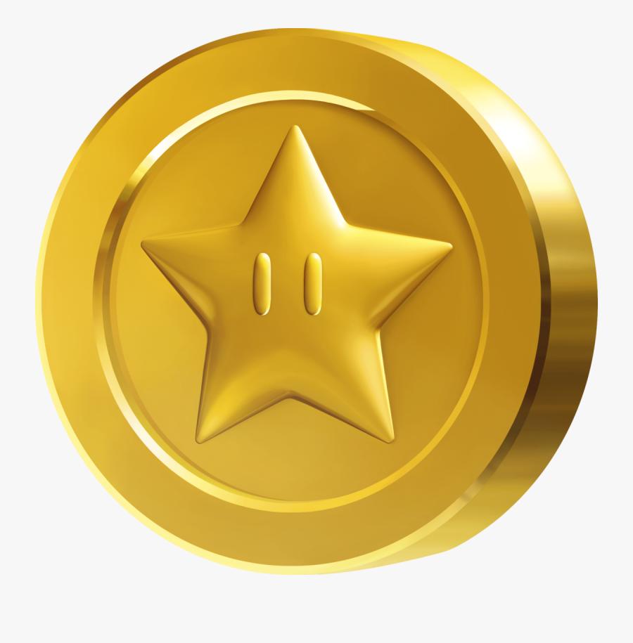 Super Mario Star Coin, Transparent Clipart