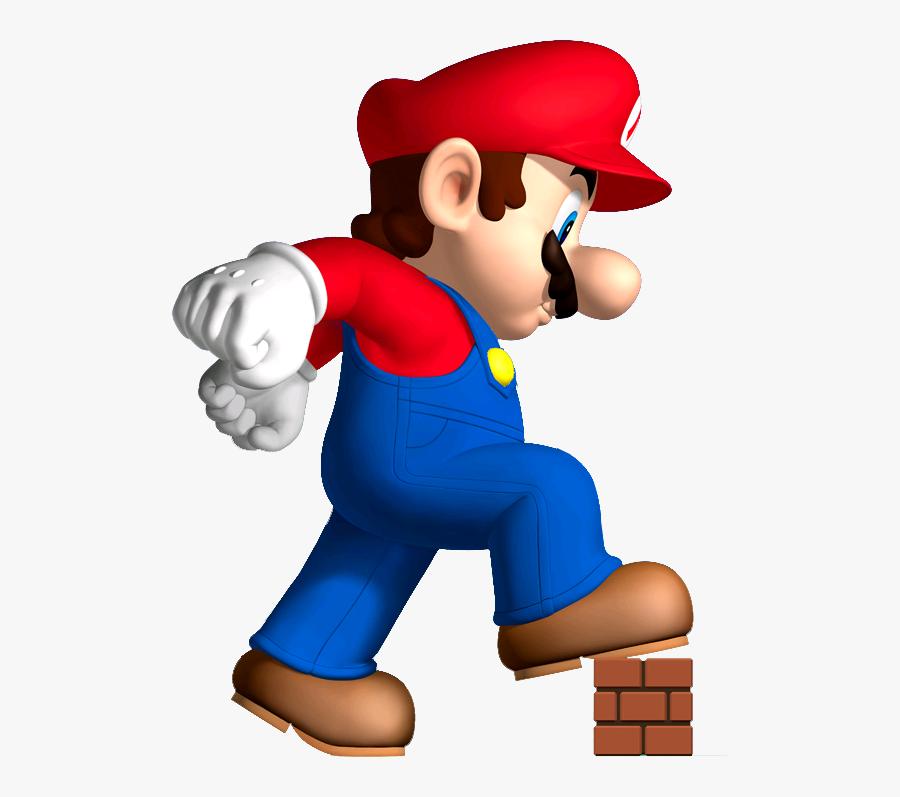 Cartoon,clip Art,animated Cartoon,fictional - New Super Mario Bros Mega Mario, Transparent Clipart
