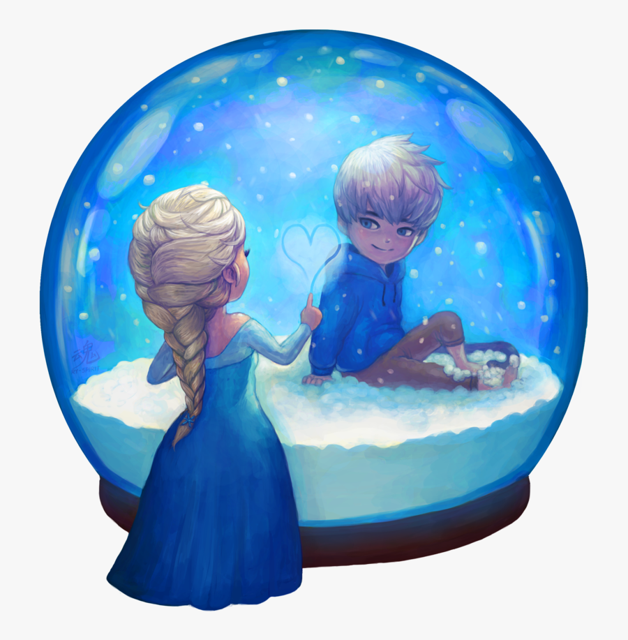 Transparent Snow Png Hd - Jack Frost And Elsa Anime, Transparent Clipart