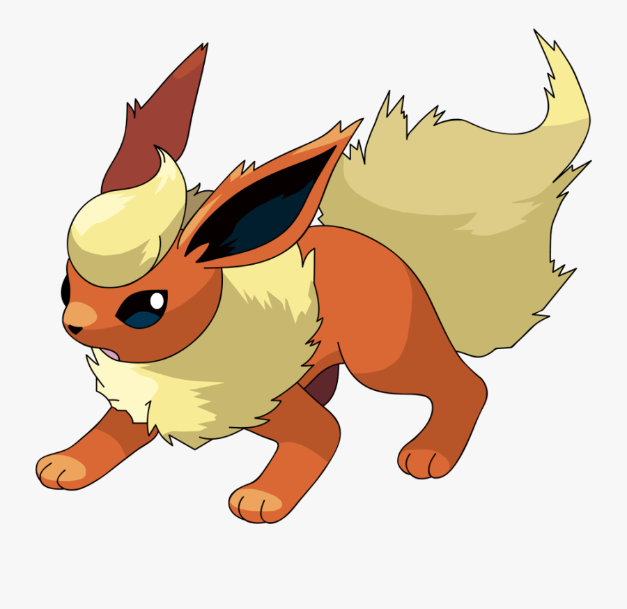 Flareon By Kirkbutler-d36eibx - Flareon Pokemon Eevee Evolution, Transparent Clipart