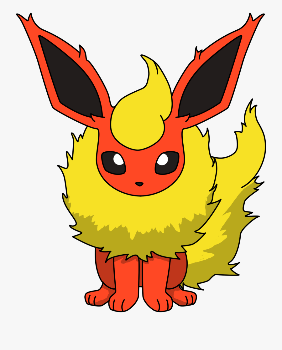 Pin By Erica Langley On Quilts - Pokemon Drawing Flareon, Transparent Clipart