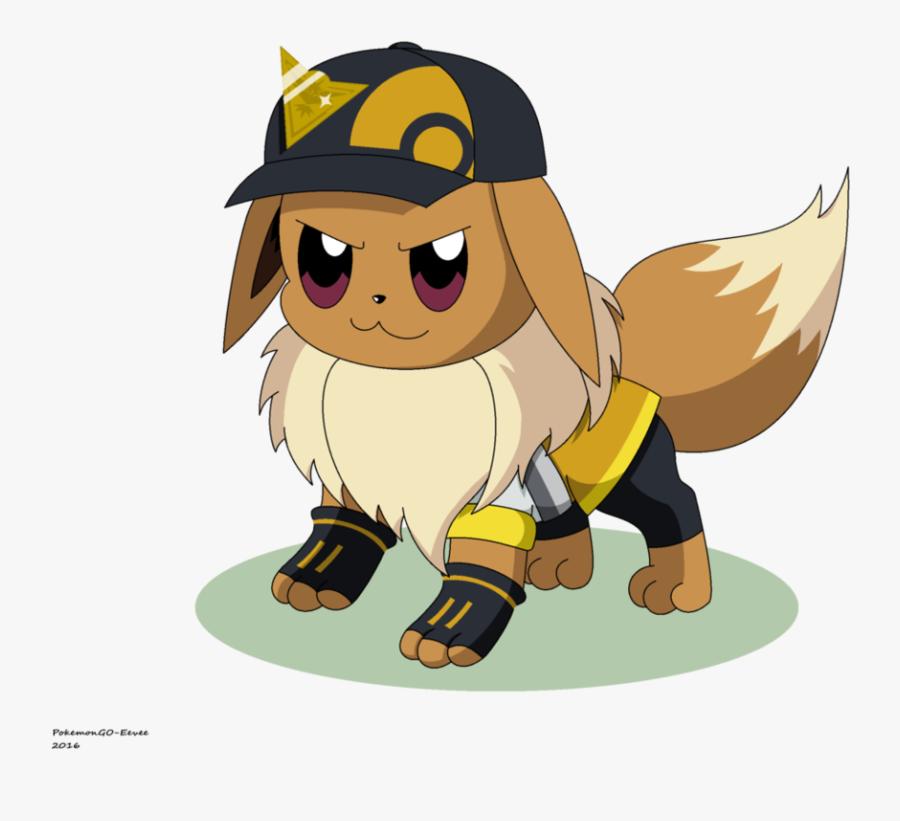 Transparent Pokeball Clipart - Pokemon Go Eevee All, Transparent Clipart
