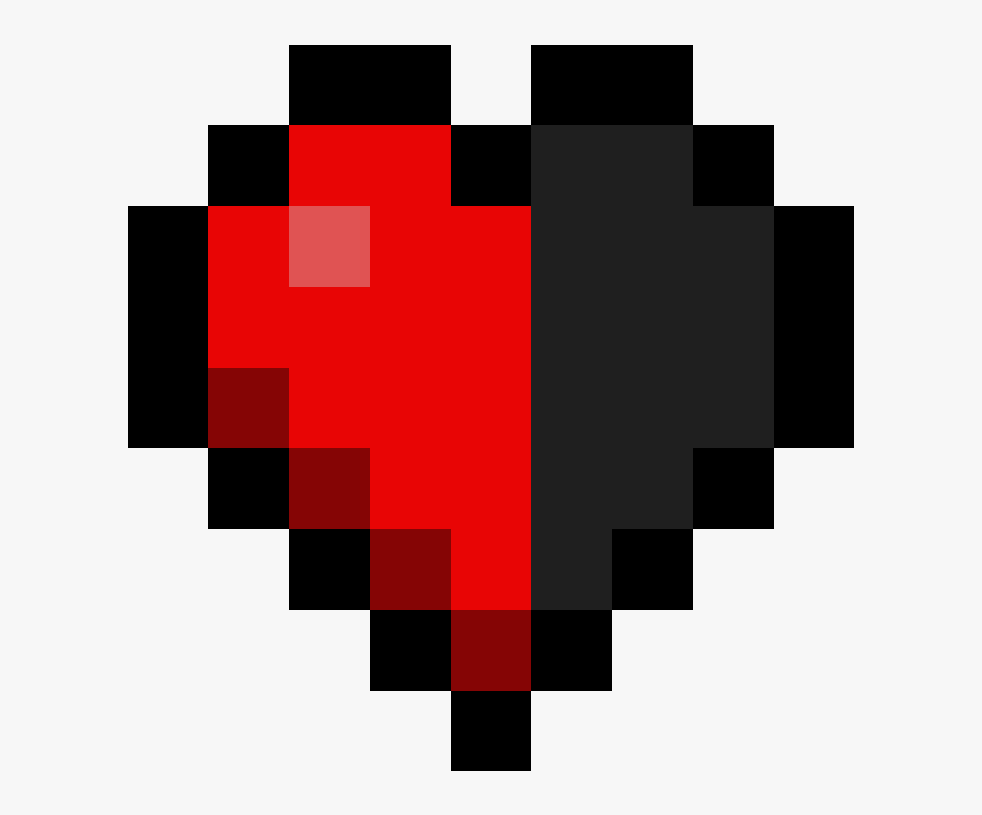 Minecraft Heart Png Very Easy Pixel Art Free Transparent Clipart Clipartkey