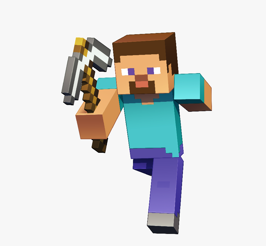 Minecraft Character Art Minecraft Steve Smash Render Free Transparent Clipart Clipartkey