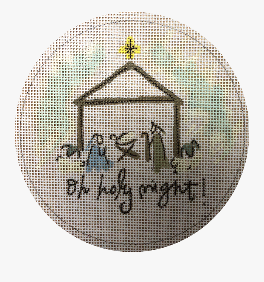 Transparent Oh Holy Night Clipart - Cross-stitch, Transparent Clipart