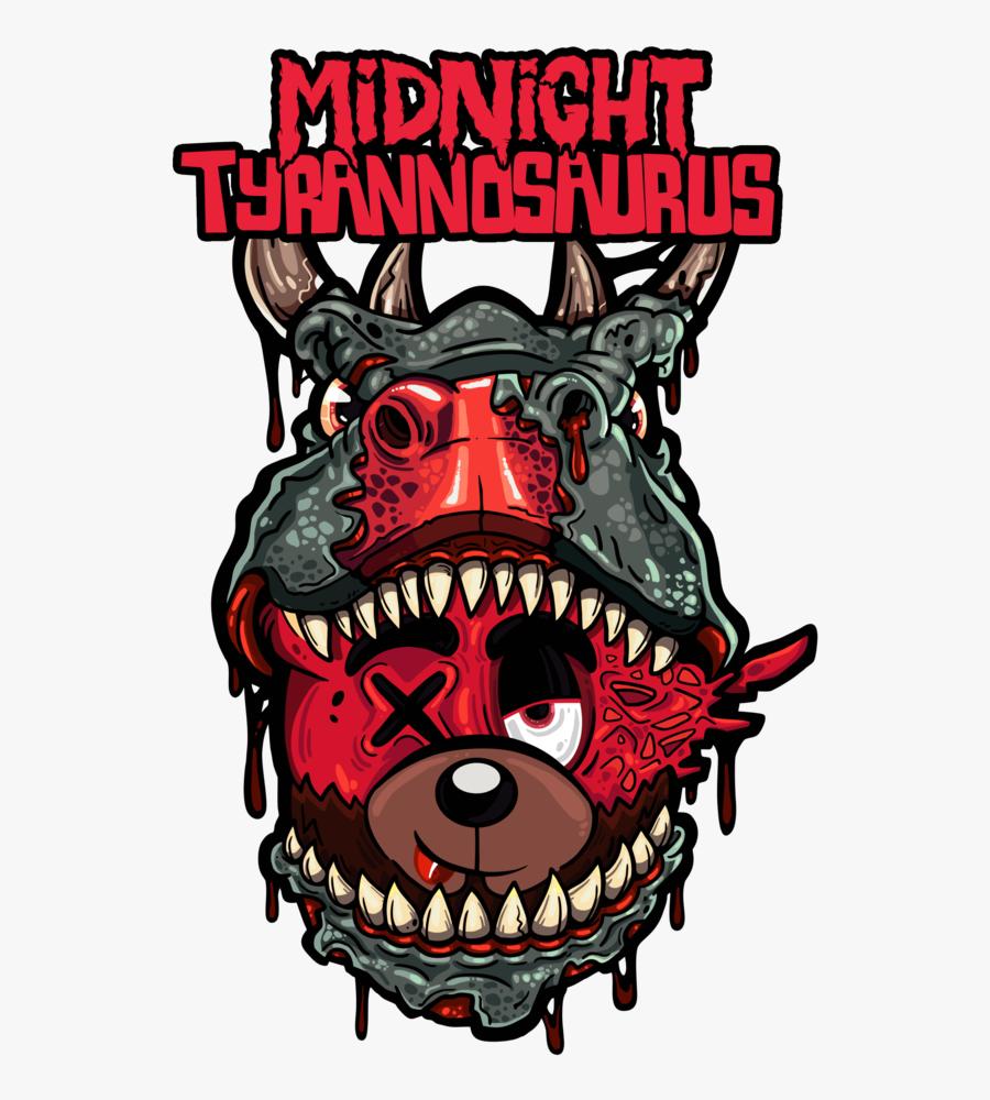 Midnight Tyrannosaurus Scummy Bear Logo, Transparent Clipart