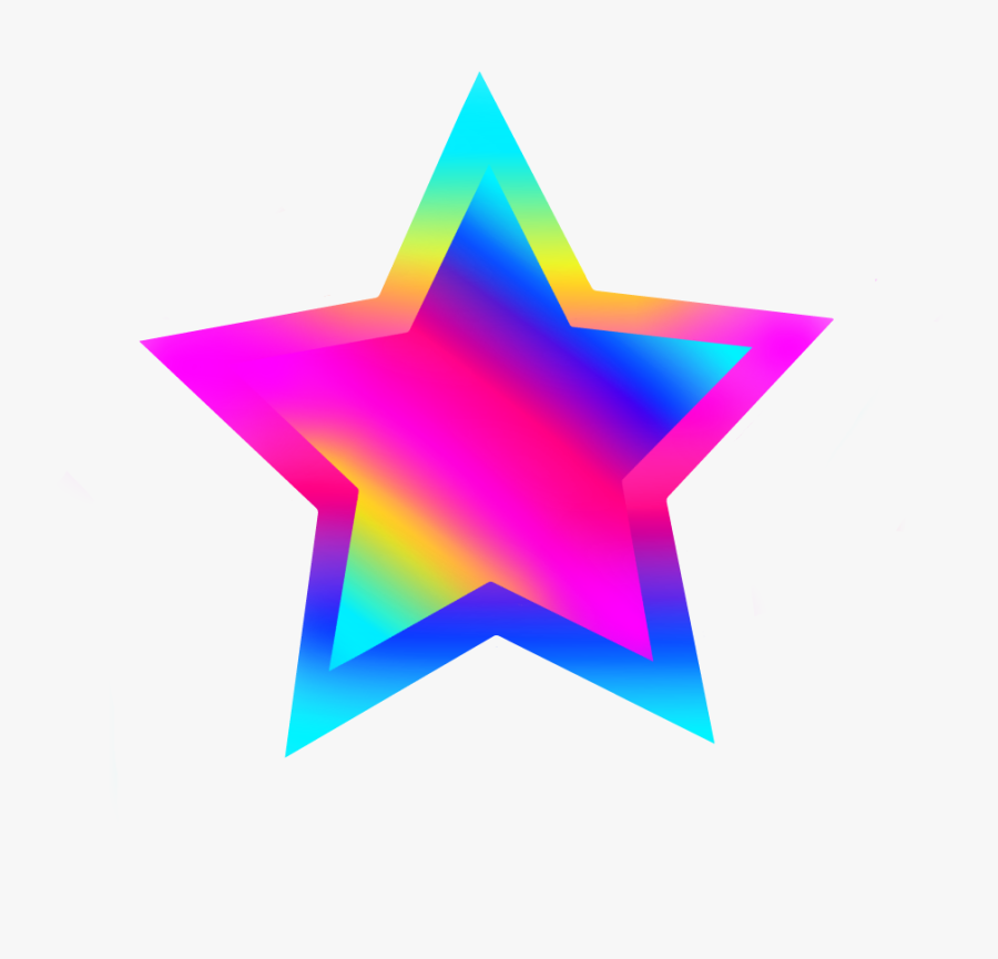 Freetoedit Stars Rainbow Png - Colorful Star Clipart, Transparent Clipart