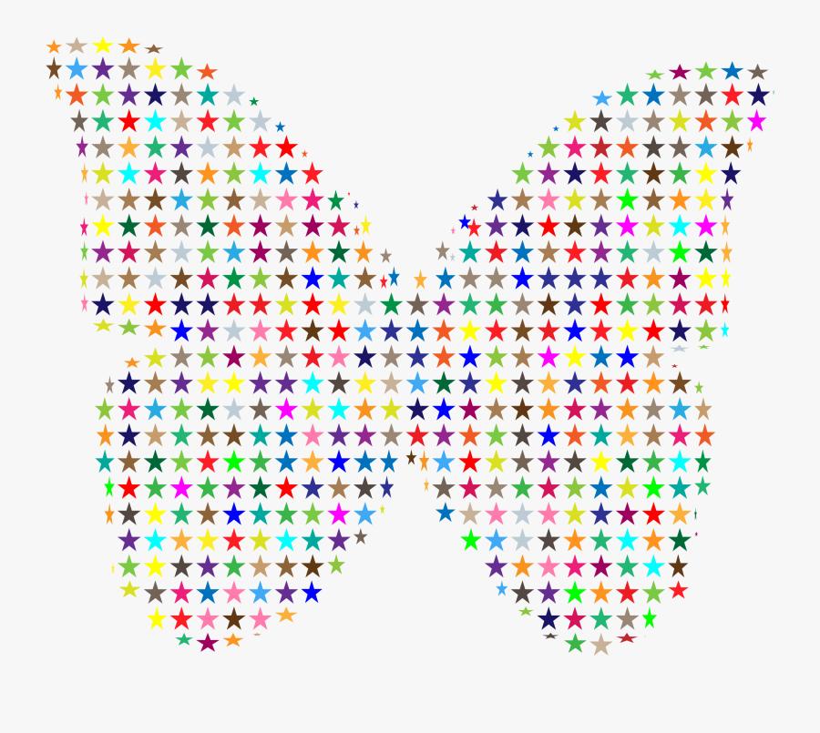 Colorful Stars Butterfly Clip Arts - Walt Disney World, Transparent Clipart