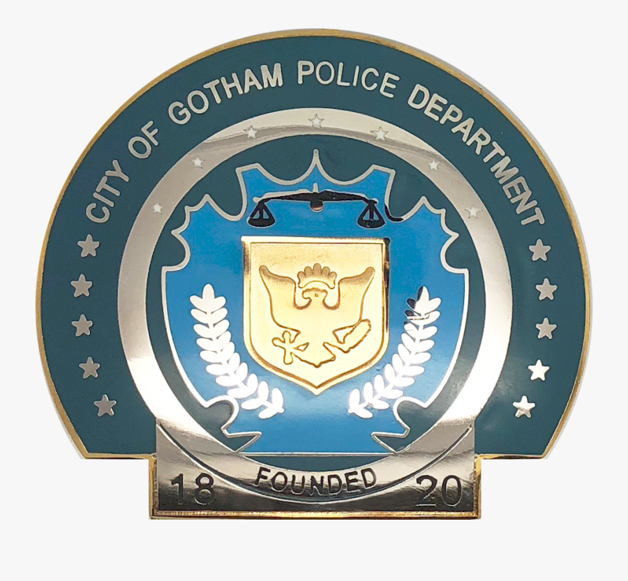 Transparent Knight Shield Png - Gotham City Police Badge, Transparent Clipart