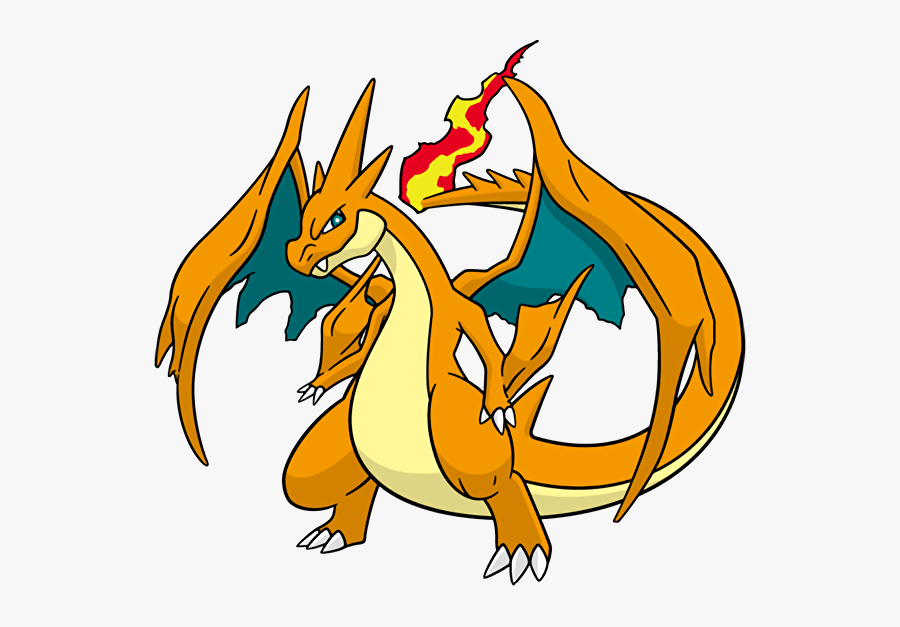 #charizard #megaevolution Y From The Official Artwork - Mega Charizard Y Dream World, Transparent Clipart