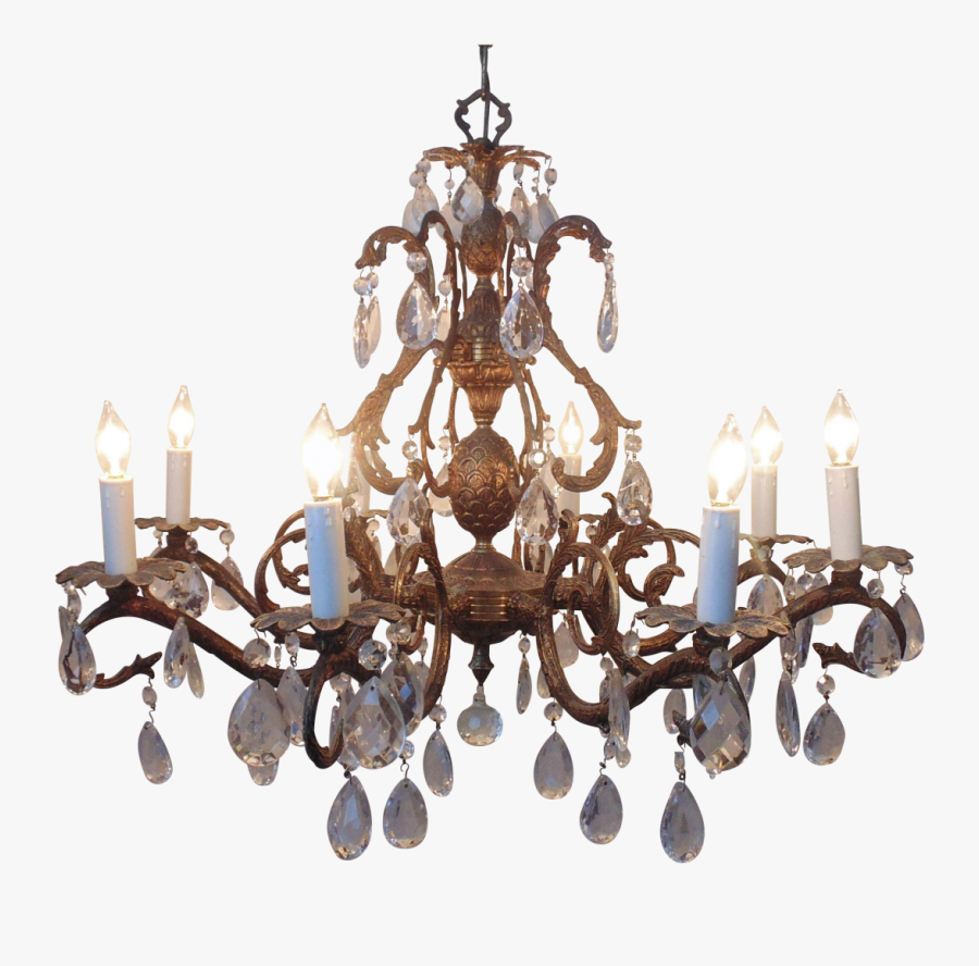 Transparent Vintage Chandelier Png, Transparent Clipart