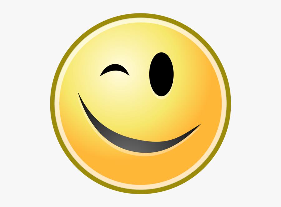 Emoticon,emotion,smiley - Clin D Oeil, Transparent Clipart