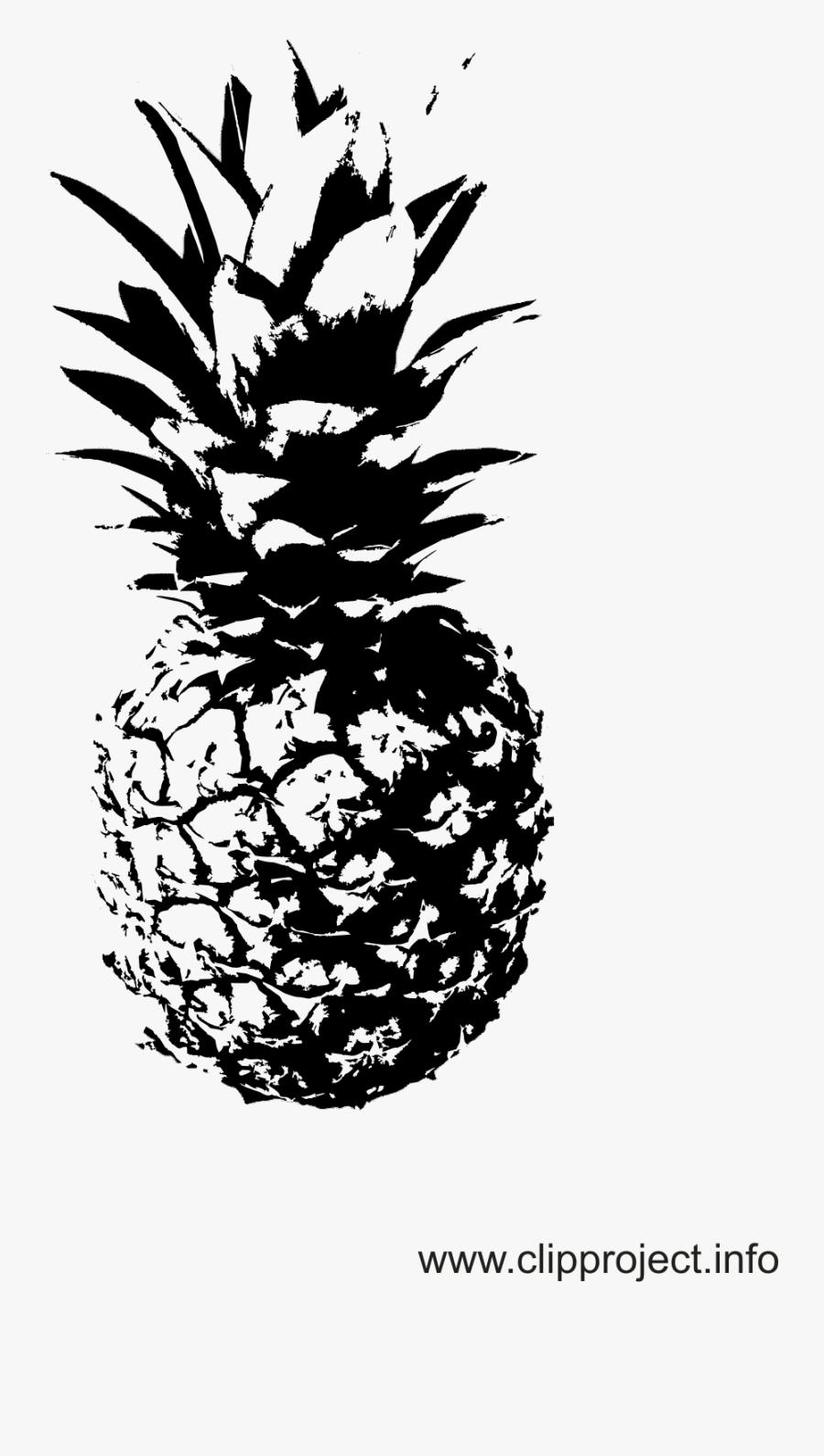 Drawing Geometry Pineapple - Schwarz Weiß Bilder Ananas, Transparent Clipart
