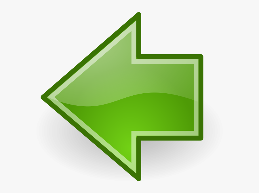 Go - Sign - Clipart - Arrow Left Green Png, Transparent Clipart