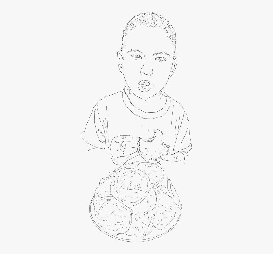 Free Okko Eating Thursdays Blood Pancakes Of Kemi - Line Art, Transparent Clipart