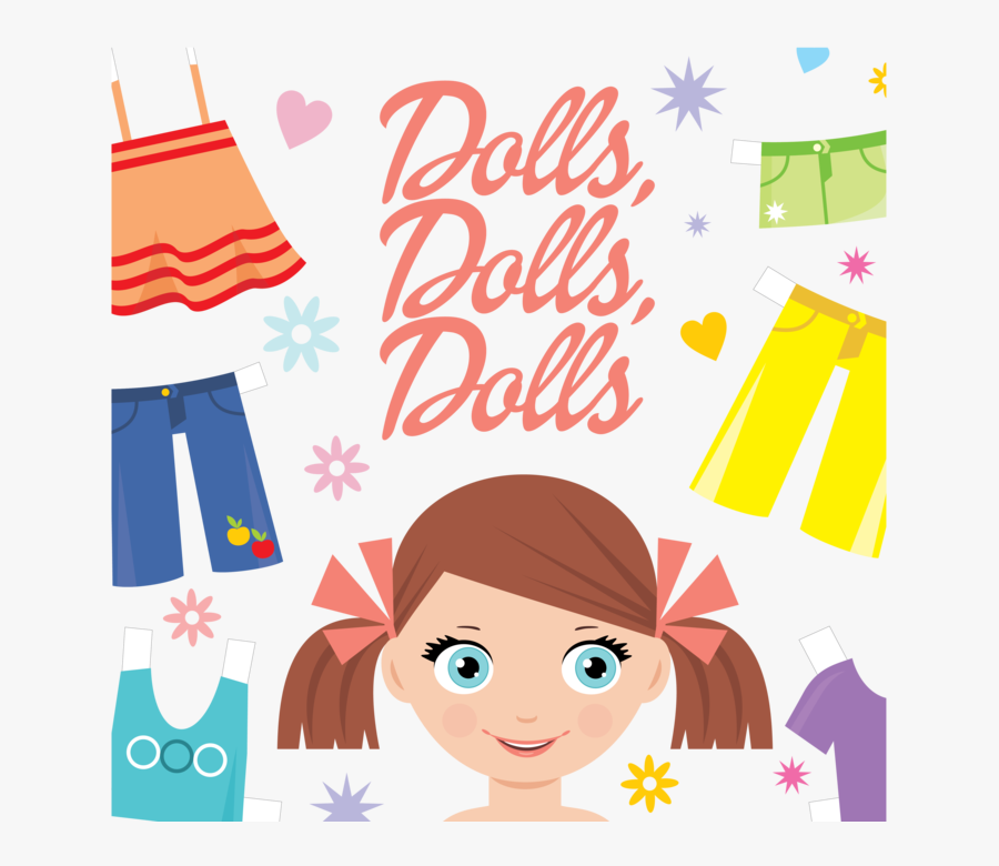 "Kraft Kamp Week Five ""dolls, Dolls, Dolls - Roupa De Boneca Desenho, Transparent Clipart"