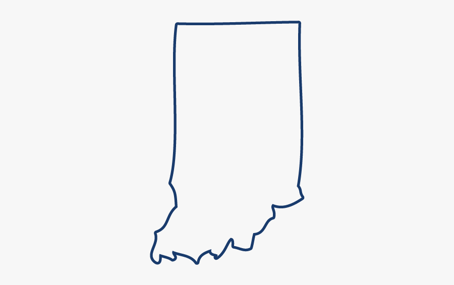Indiana - Indiana State Outline Png, Transparent Clipart