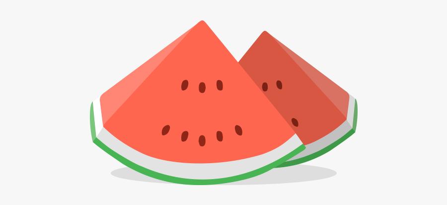 Papaya Drawing Half Watermelon - Watermelon, Transparent Clipart