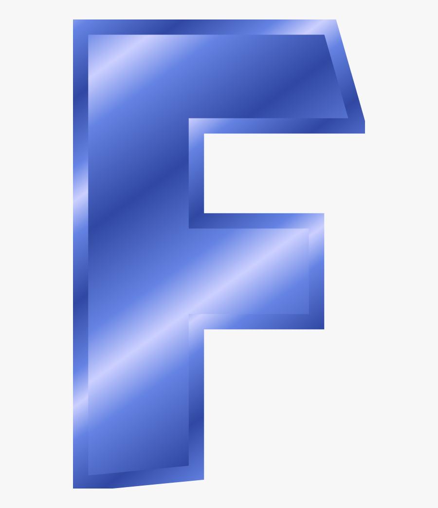 Letter F Png - Free Large Colorful Alphabet Letters, Transparent Clipart