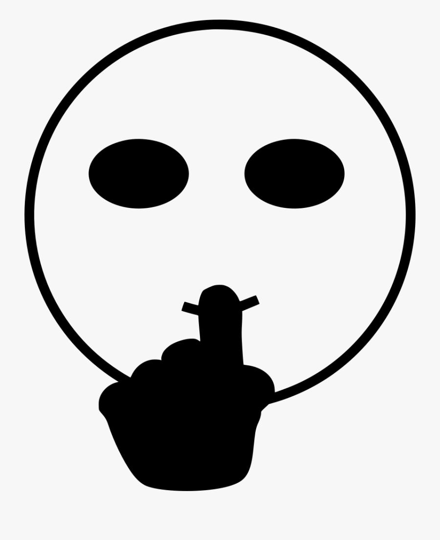 Mouth Svg Quiet - Gesture, Transparent Clipart