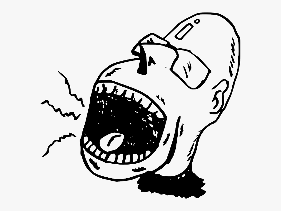 Screaming Person Clipart, Transparent Clipart