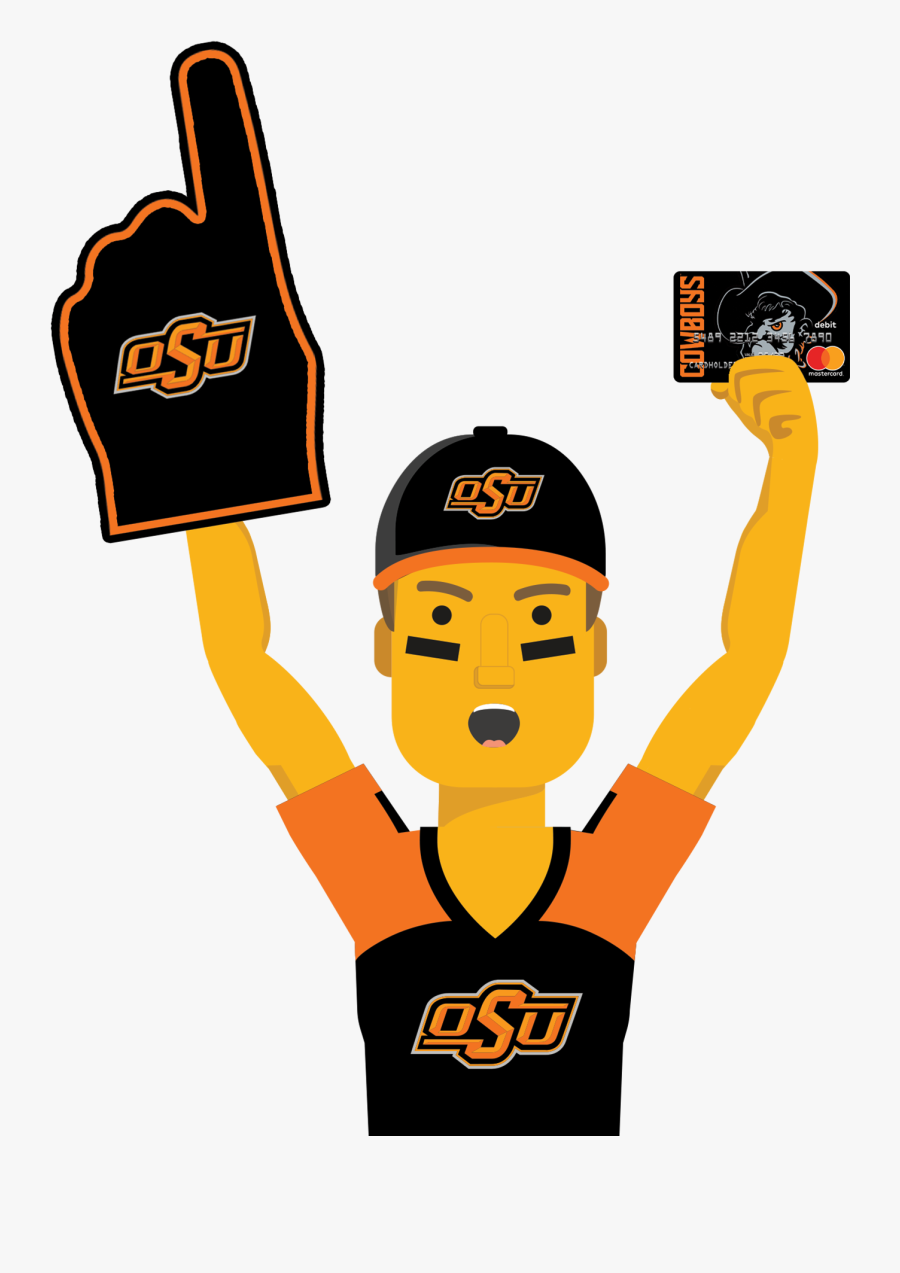 Oklahoma State Ultimate Fan With The Oklahoma State - Mississippi State University, Transparent Clipart
