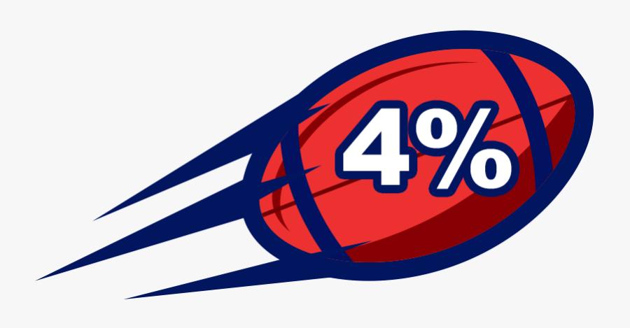 4% Football, Transparent Clipart