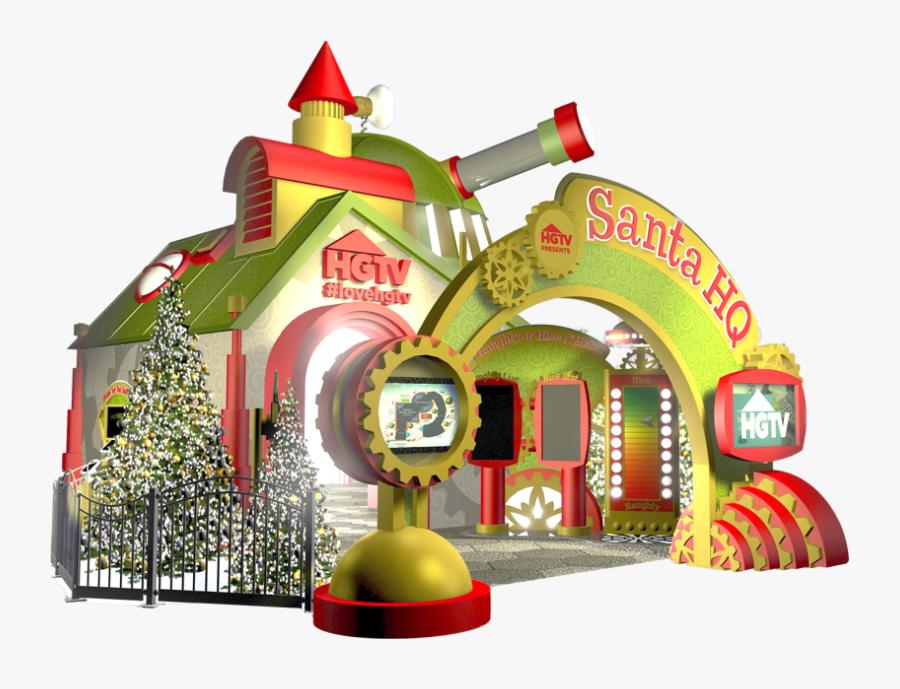 Mall Clipart Holiday Shopping - Santa Hq, Transparent Clipart