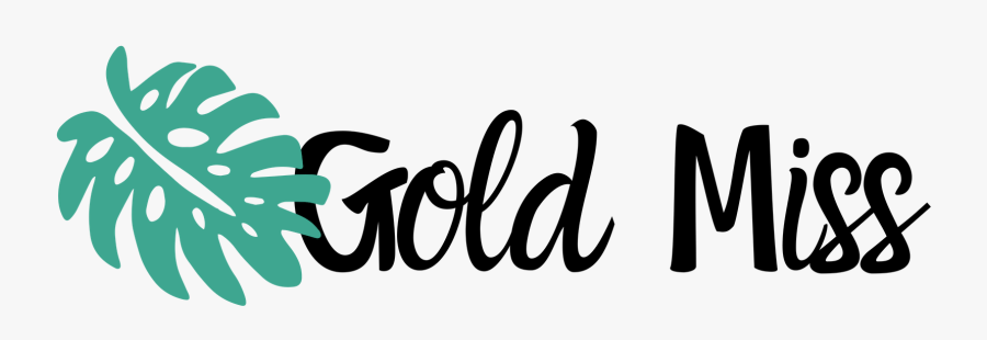 Gold Miss - Calligraphy, Transparent Clipart