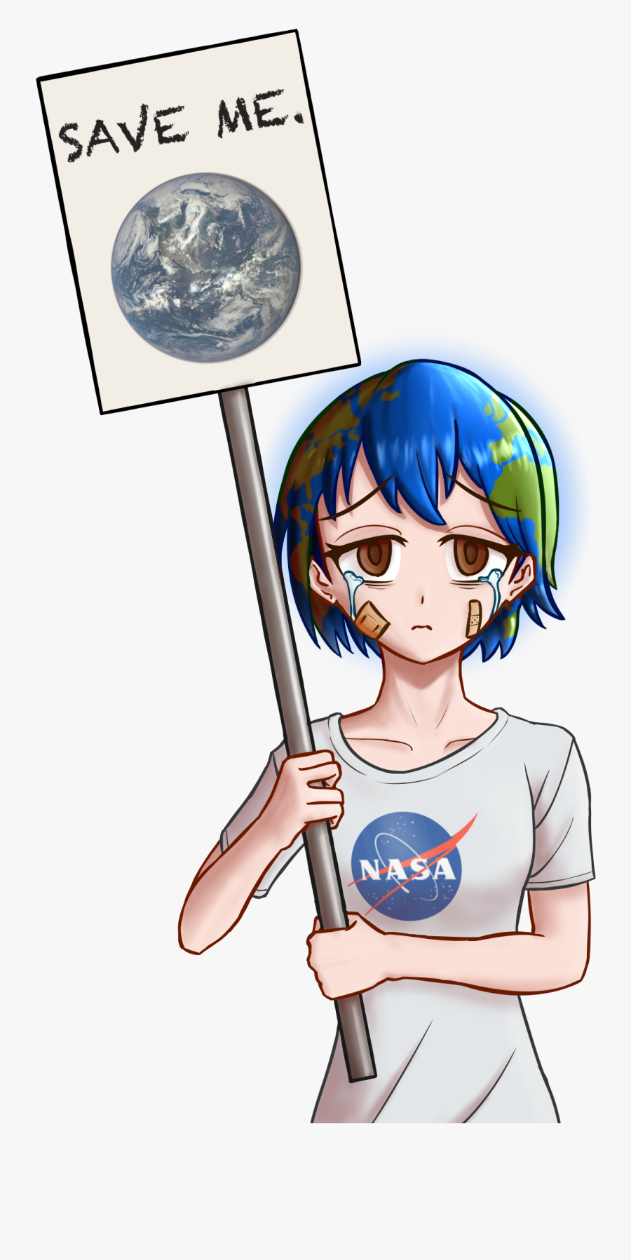 Save The Earth - Earth Chan Save Earth, Transparent Clipart