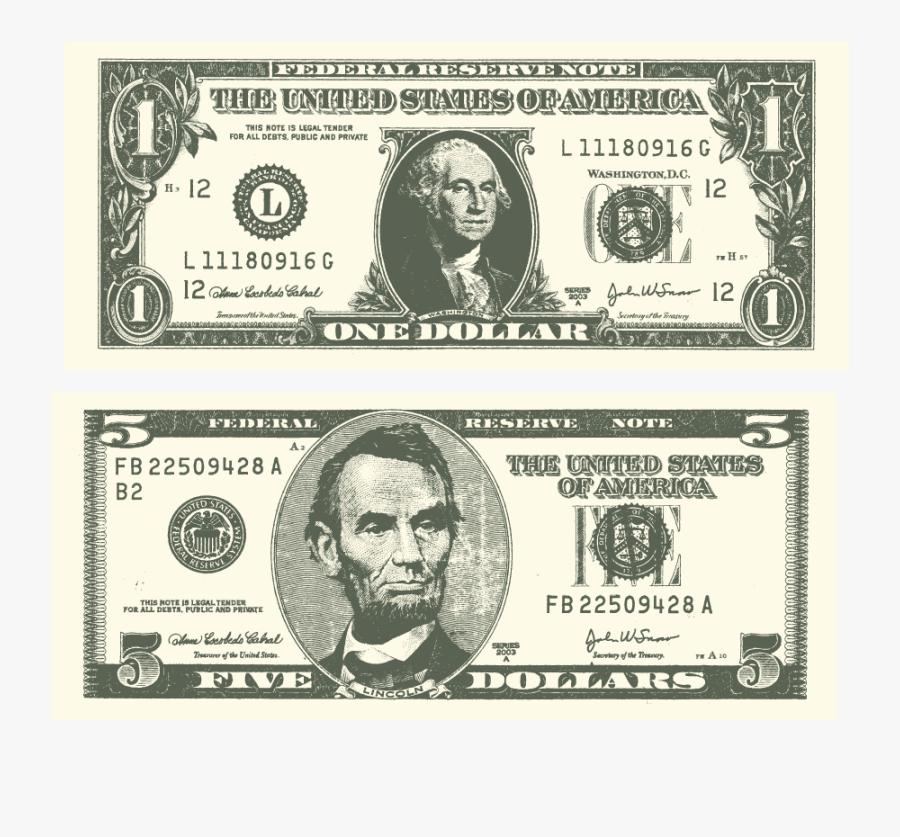 United States One Dollar Bill United States Dollar - Money George Washington Dollar Bill, Transparent Clipart