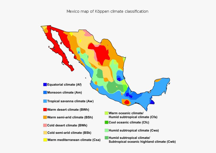Koppen Climate Map Mexico , Free Transparent Clipart ...