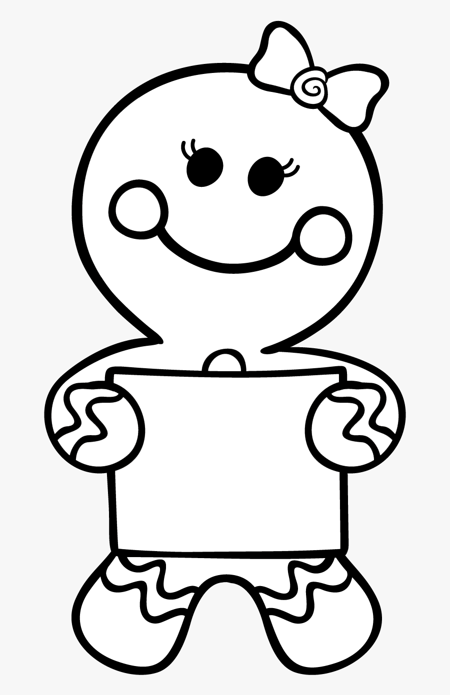 Gingerbread Man Story, Saint Nicolas, Theme Noel, Pain, - Christmas Gingerbread Man Colouring Pages, Transparent Clipart
