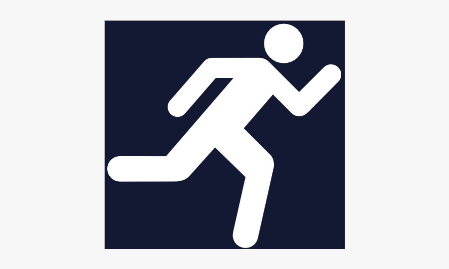 Running Icon Svg Clip Arts - Stick Man Running White, Transparent Clipart