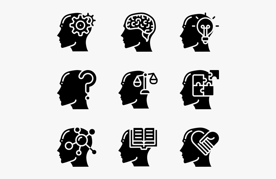 Human Mind - Human Brain Icon Png, Transparent Clipart