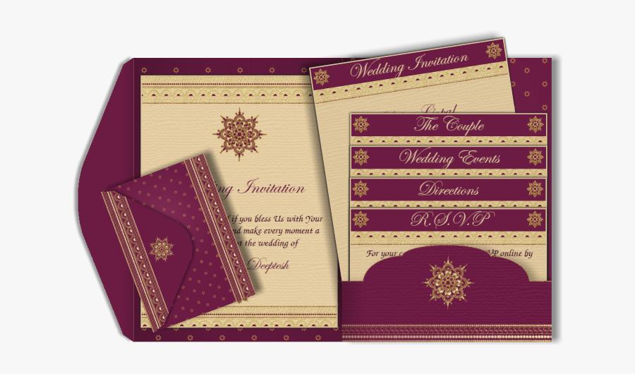 Clip Art Email Card Pocket Fold - E Wedding Cards Design, Transparent Clipart