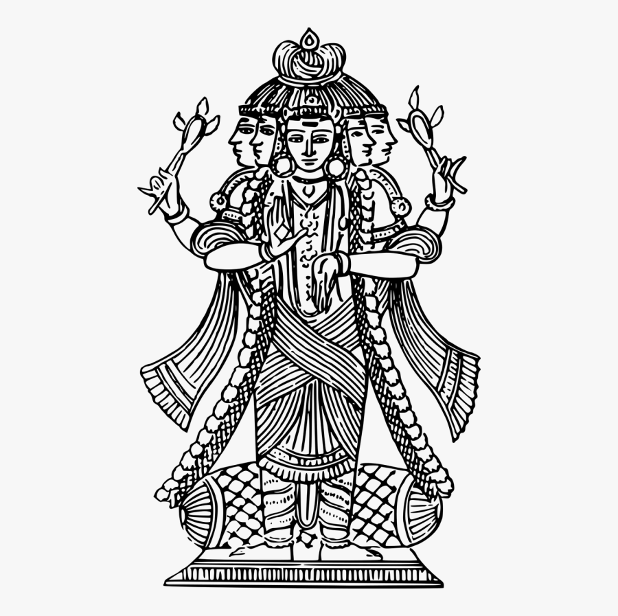 Deity God Hindu - Gods Black And White, Transparent Clipart